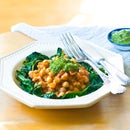Tuscan Chickpeas & Wilted Greens With Zesty Salsa Verde