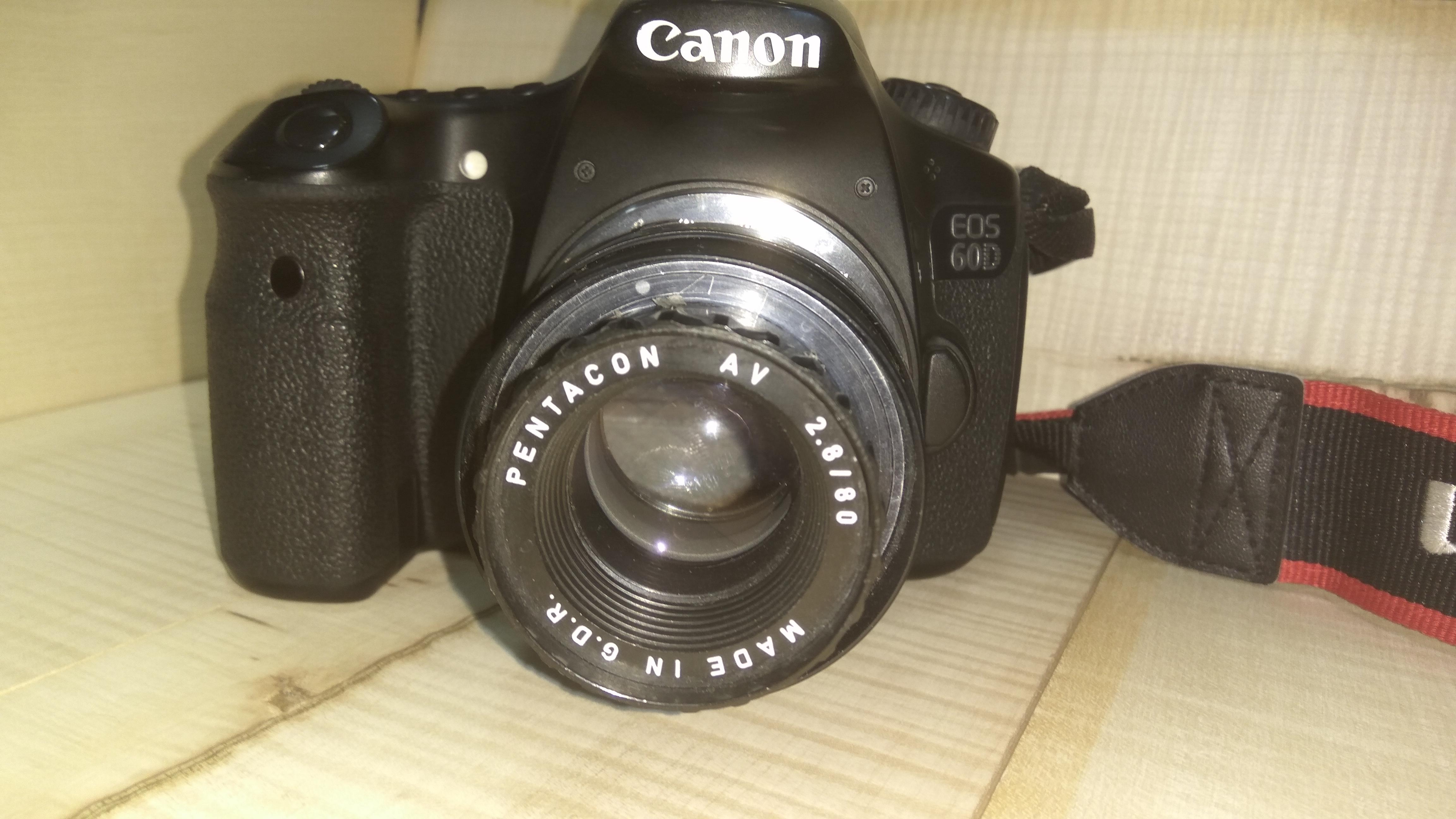 Picture of How to Mount Pentacon AV 80/2.8 on Canon DSLR