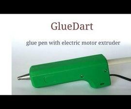 GlueDart. Glue Pen With Electric Motor Extruder