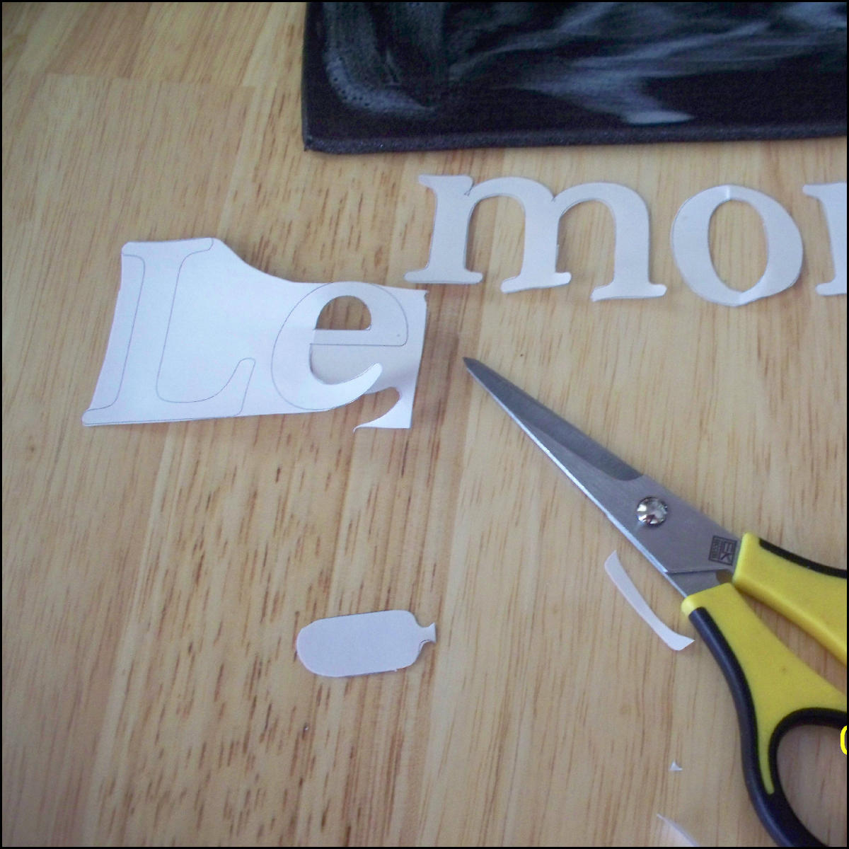 Picture of Cut Letters Out of Styrofoam