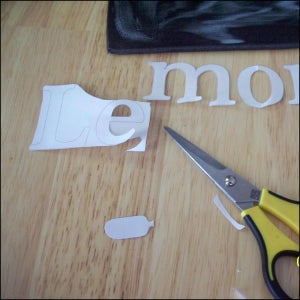 Cut Letters Out of Styrofoam