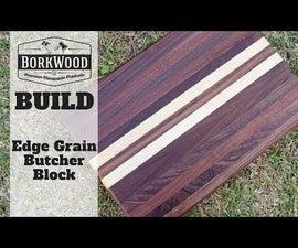 Edge Grain Butcher Block | a DIY Tutorial