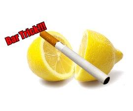 Easy Bar Trick, Cut a Lemon With a Cigarette