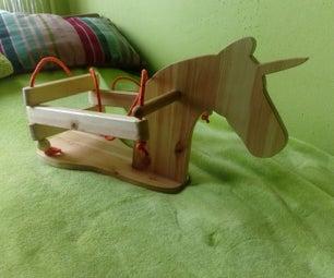 Wooden Unicorn Swing