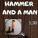 Chalk Carving(Hammer and a Man)