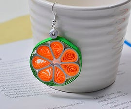 Beebeecraft Ideas on How to Make Simple Hoop Earrings With Orange Quilling Flower