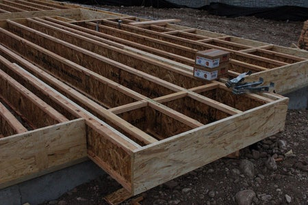 Cantilevers Allow the Floor to Be Framed Out Past the Foundation