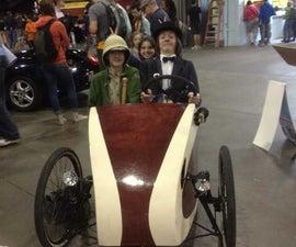 Velomobile Three Seat Electric Car