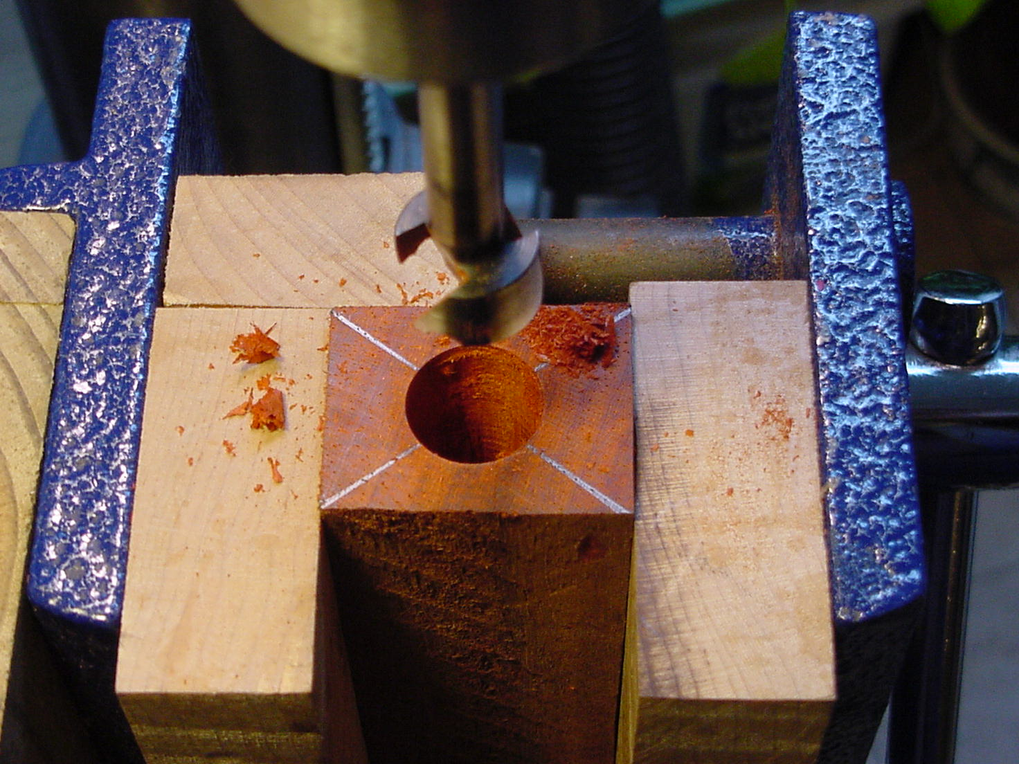 Picture of Mark and Drill Inner Dowel Hole.