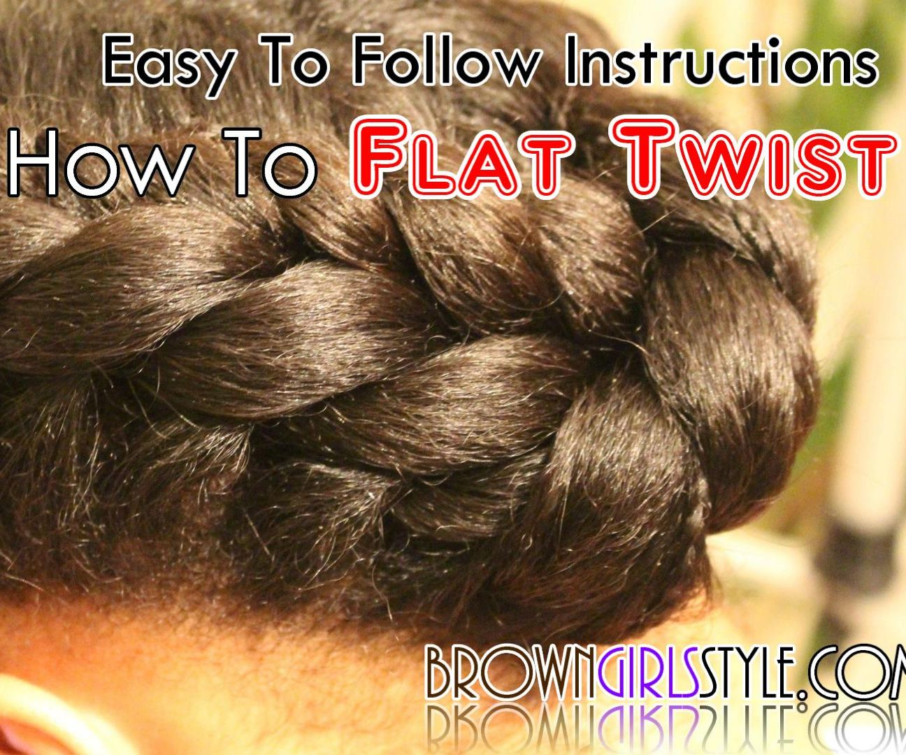 How to Flat Twist Tutorial: 7 Steps (with Pictures)