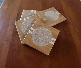 DIY Cherry & Maple Coasters