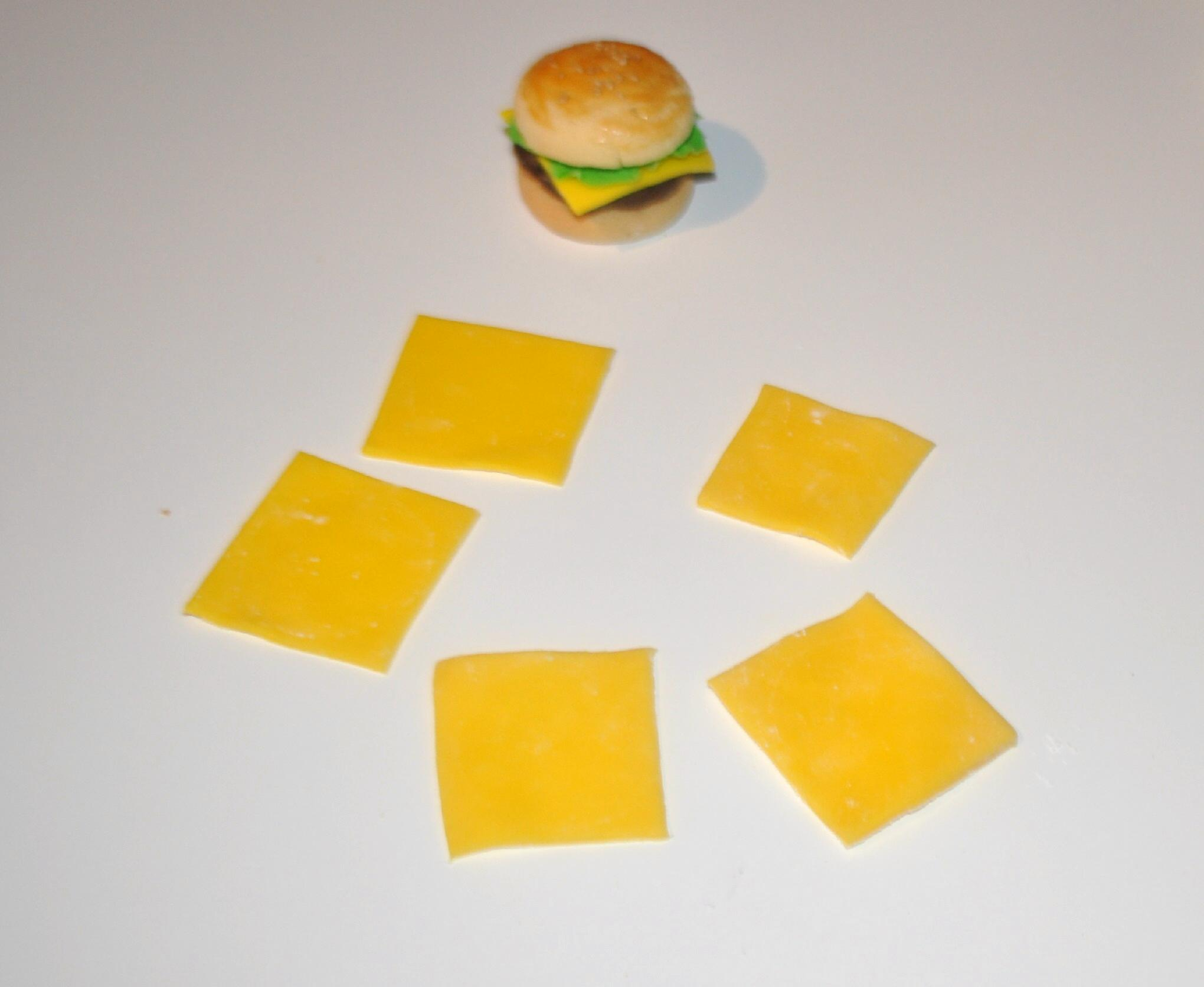 """Picture of Fondant """"cheese and Lettuce"""""""