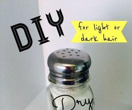 Homemade Dry Shampoo (for light or dark hair)
