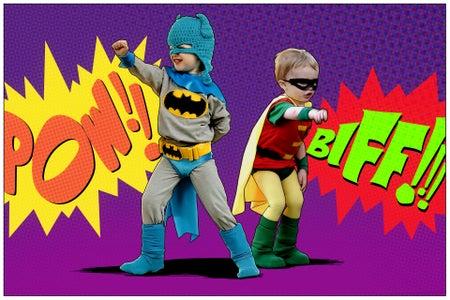 Classic Batman and Robin Kids' DIY Costumes