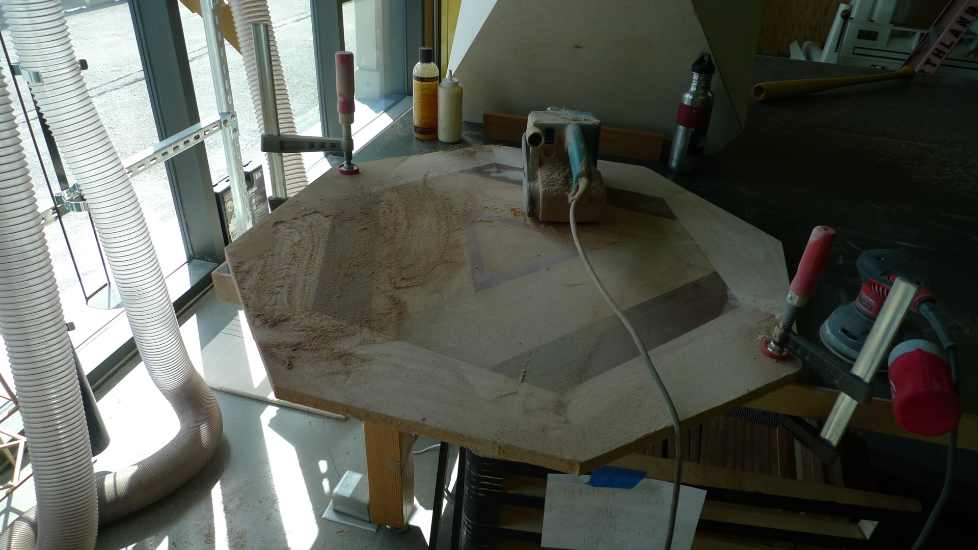Picture of Sanding Down Tabletop