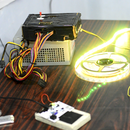 Simple LED strip party lights using arduino