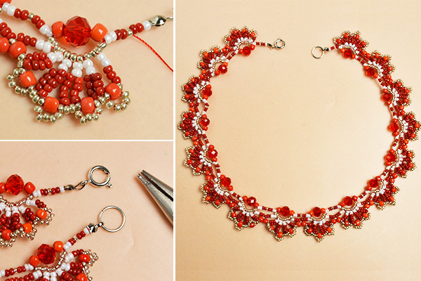 Picture of Complete the Red Seed Bead Choker Necklace