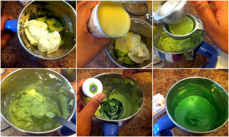 Picture of Make the Avocado Cream Cheese Filling for the Pie