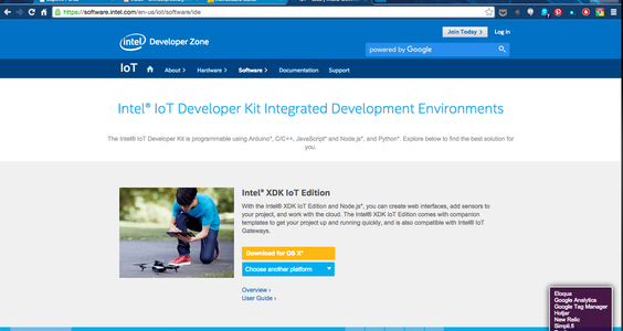 Setting Up the Edison, Intel IoT and Intel XDK