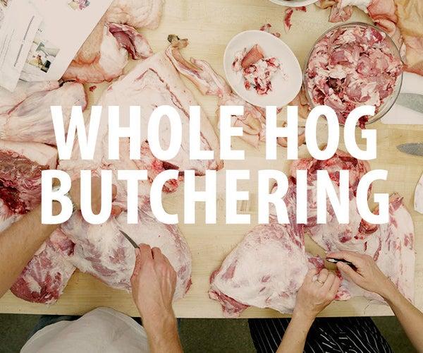 Whole Hog Butchering: Breaking Down a Mangalitsa-Red Waddle Heritage Pig