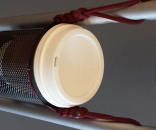 Cup Holder Made From Paracord and an Office Pen Cup