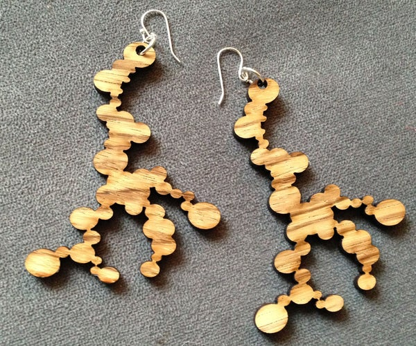 Laser-cut Coral-inspired Earrings