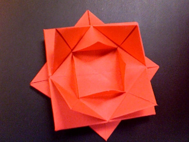 Origami Rose Easy - Origami Tutorial - YouTube | 480x640