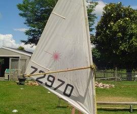 Bamboo Windsurfing Rig