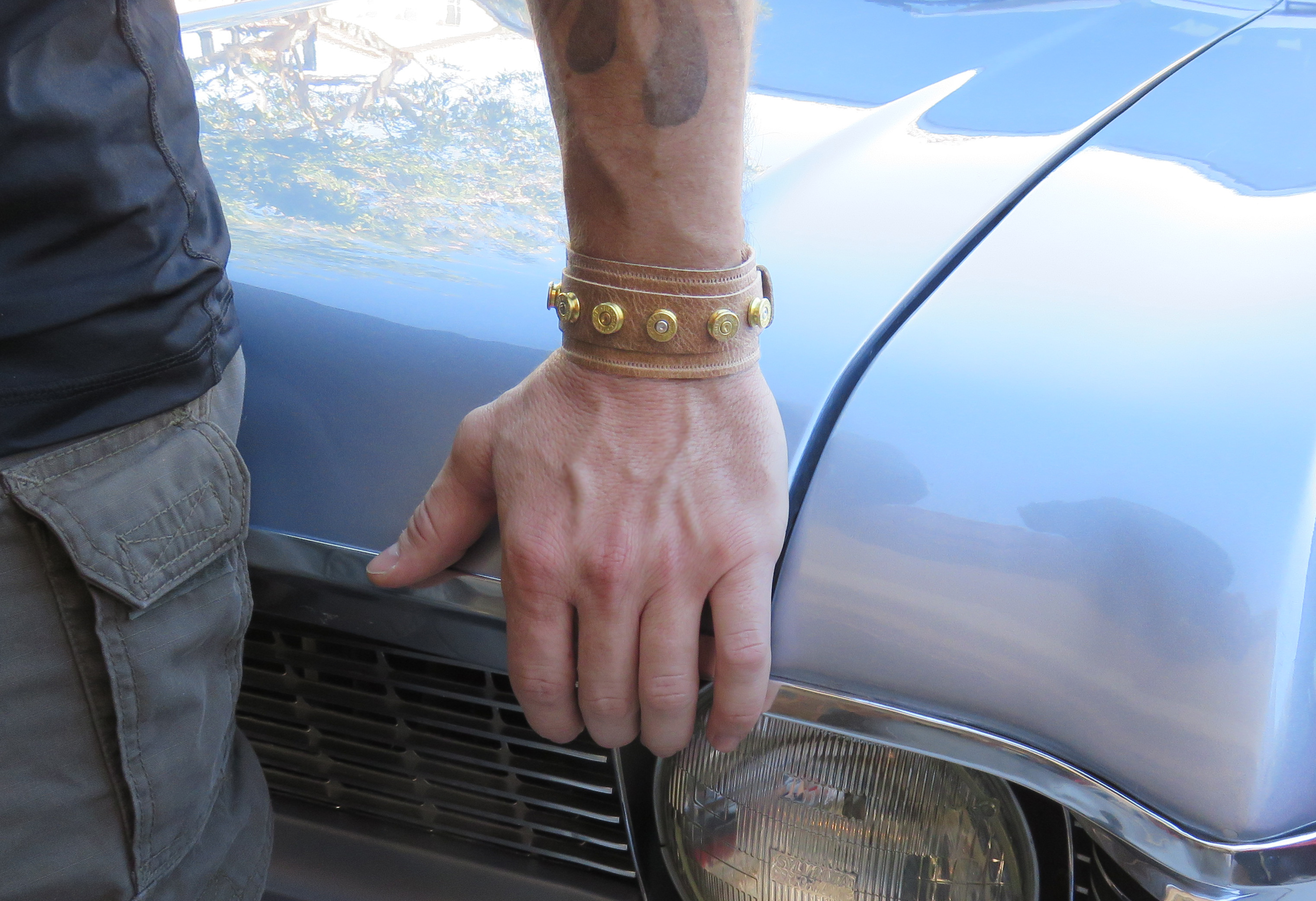 Picture of Bullet Studded Leather Cuff