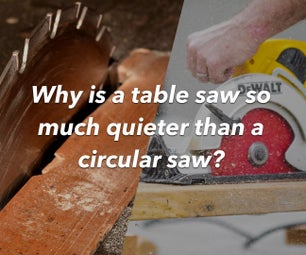 Why Is a Table Saw So Much Quieter Than a Circular Saw?