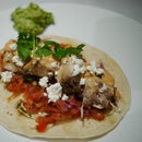 Watermelon Fish Tacos with Adobo Sauce