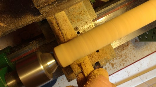 Shaping the Grip on the Lathe