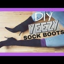 TURN SOCKS INTO BOOTS (diy Yeezy Sock Boots)