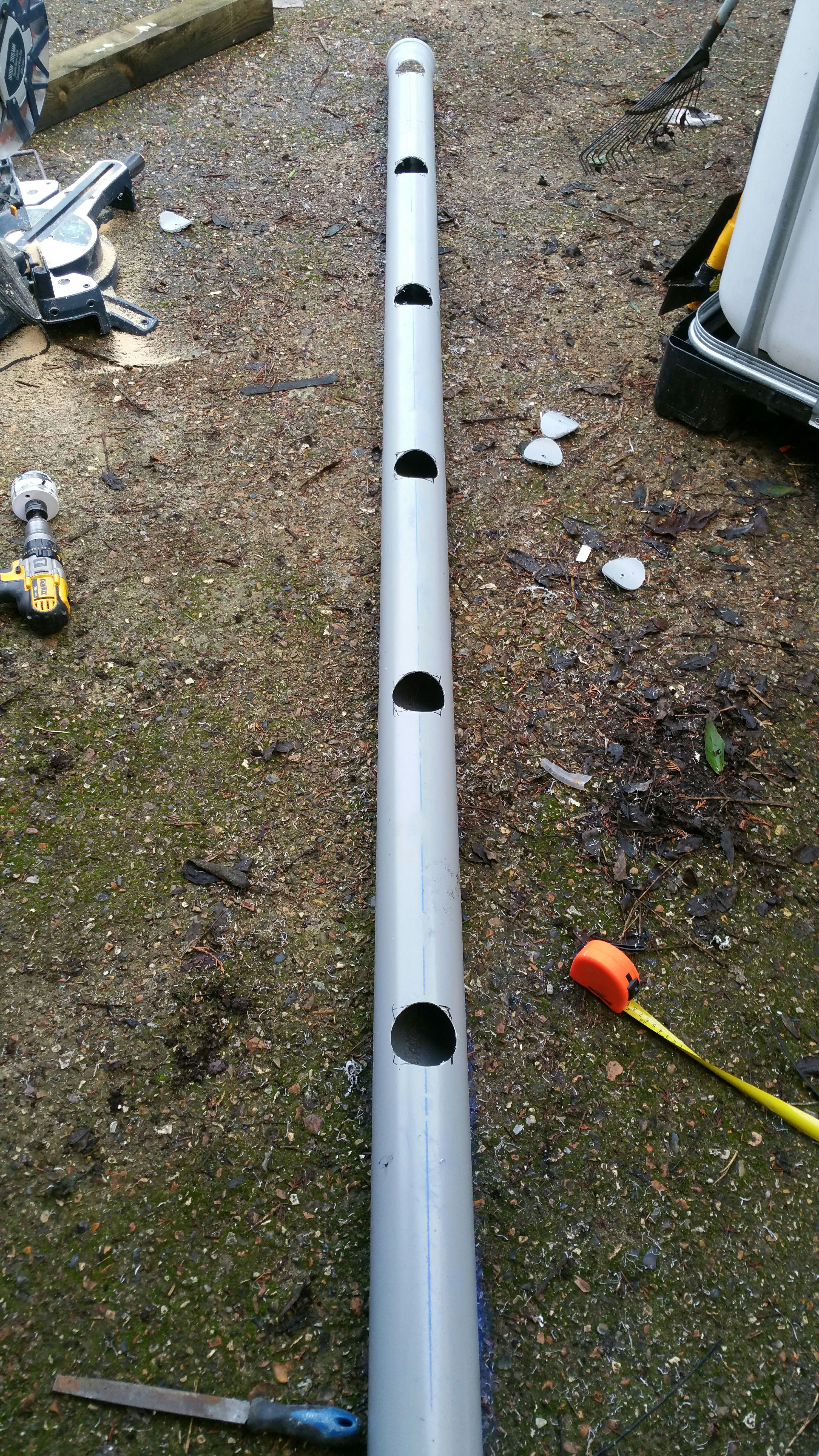 Picture of Creating the Return Pipe Work.