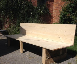 Wooden Lounge Bench