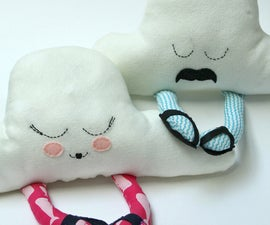 Mr. and Mrs. Cloud Pillows