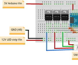 Arduino Led Strip Controller for Cool PC Lights