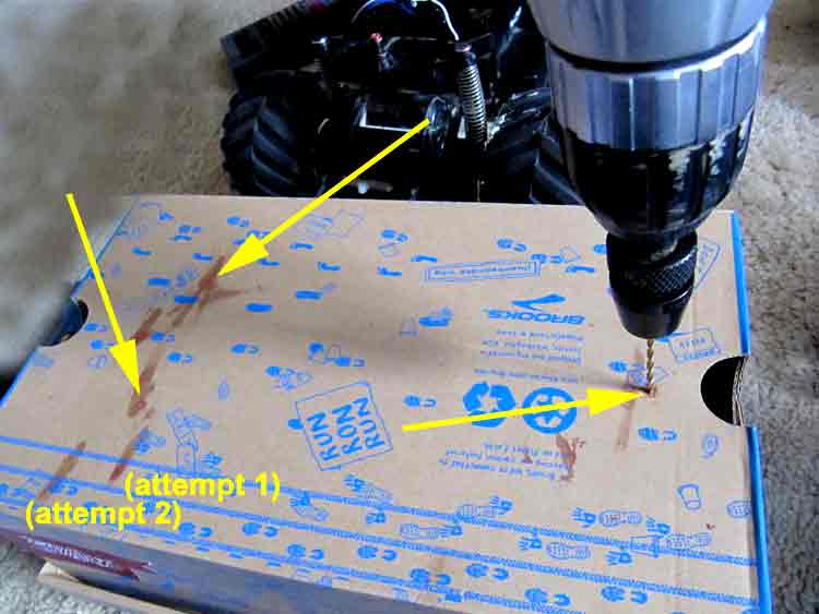 Picture of Box: Flip Over and Drill Holes Through Registration Marks