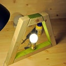 A trapezoidal lamp (Christmas' gift for parents)