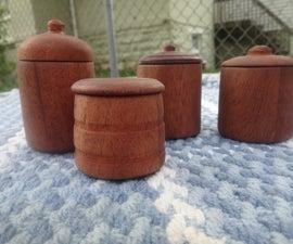 Spice Jars on a Wood Lathe