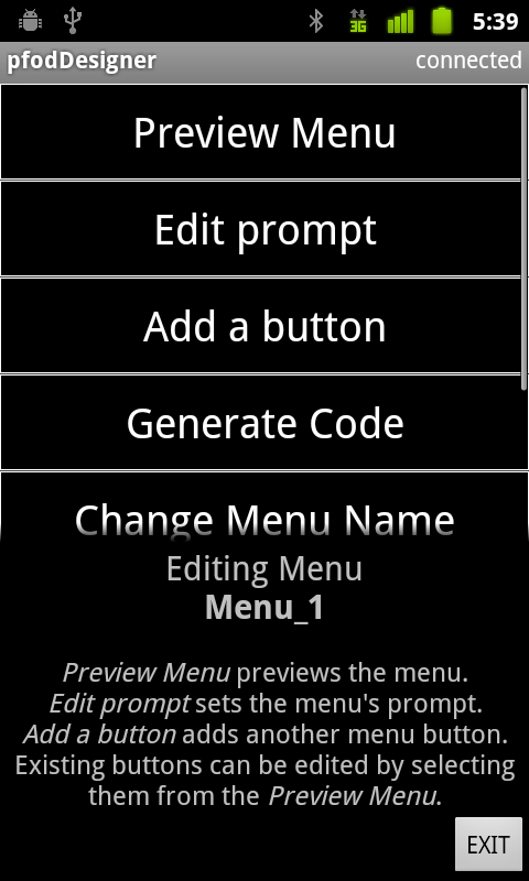 Picture of Starting a New Menu