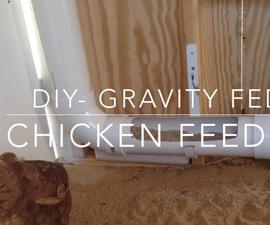 Chicken Coop Gravity PVC Feeder