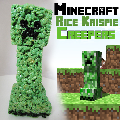 Picture of Minecraft Rice Krispie Creepers