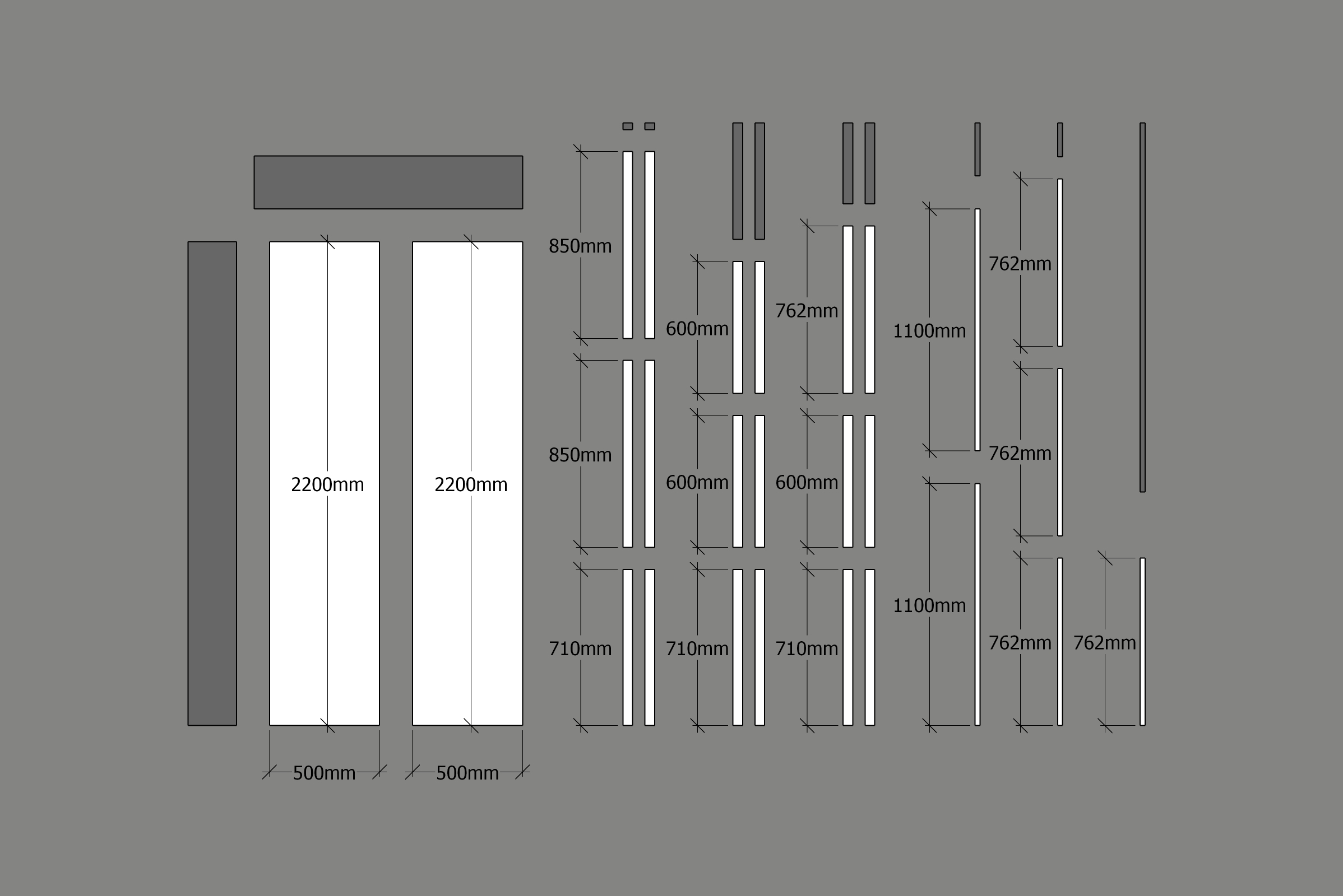 Picture of Expandable Table Frame Cut List