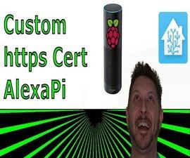 Hosting Https for AlexaPi Custom Skill