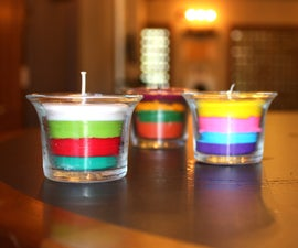 Layered Crayon Candles