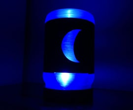 Recycled Lunar Phase Lamp