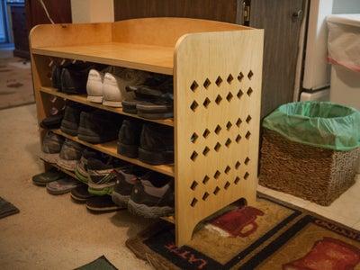 Shoe Organizer Bench