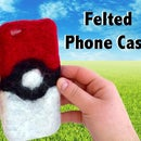 DIY Felted Pokeball Phone Case