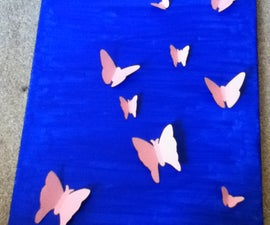3D butterfly picture